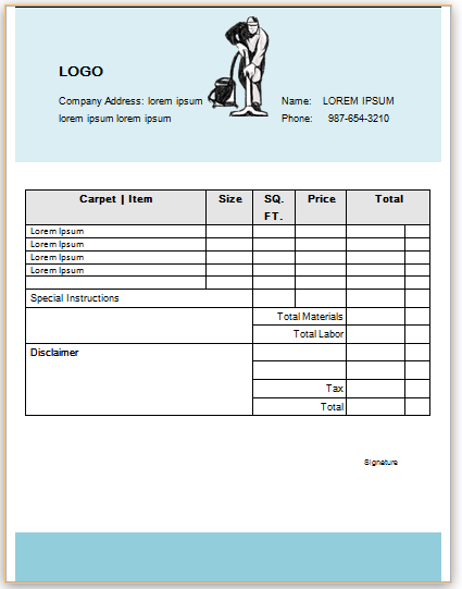 Carpet Cleaning Invoice Template 12 Invoice Template Carpet Cleaning Hacks How To Clean Carpet