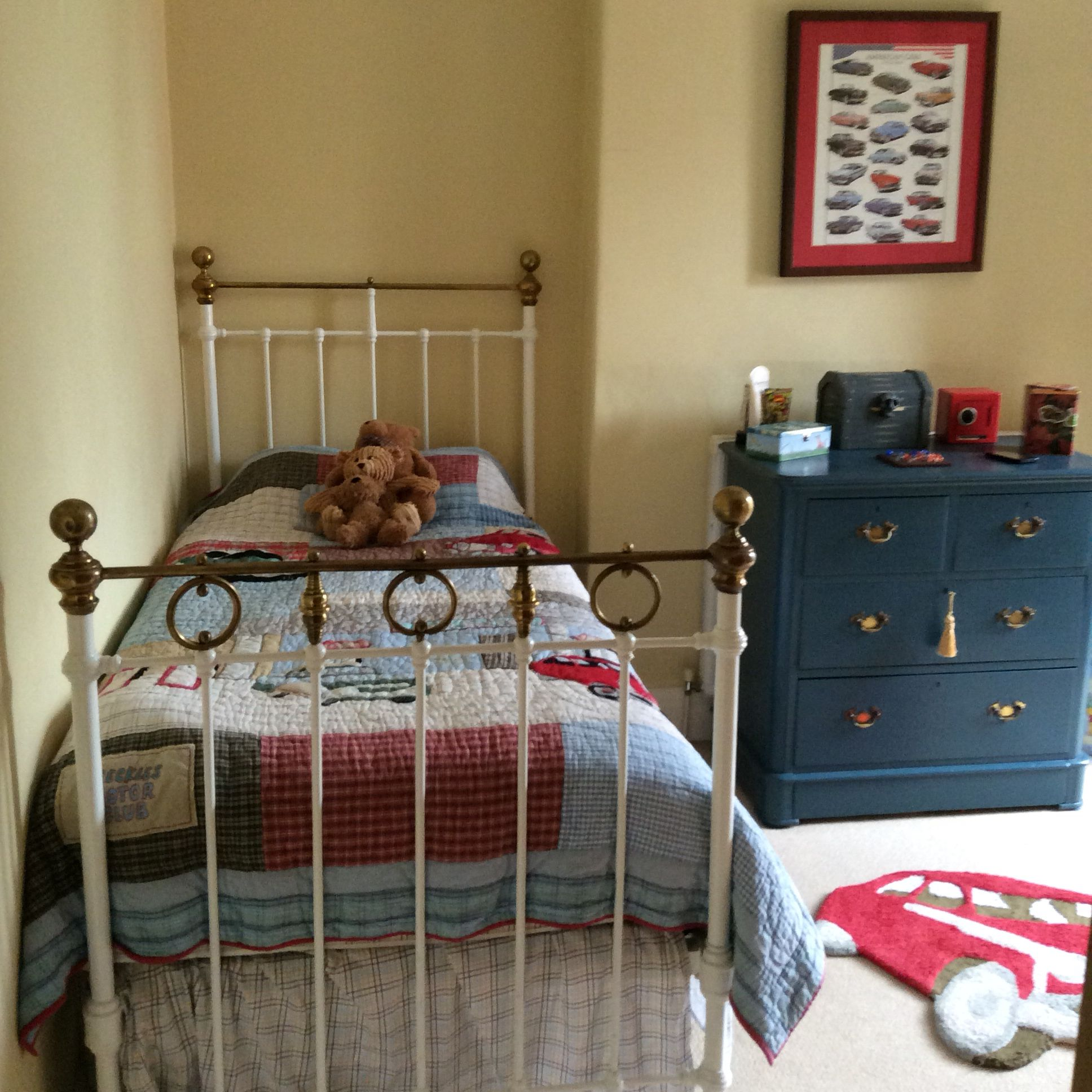 Boys Bedroom With Antique Brass Bed Boys Bedrooms Brass