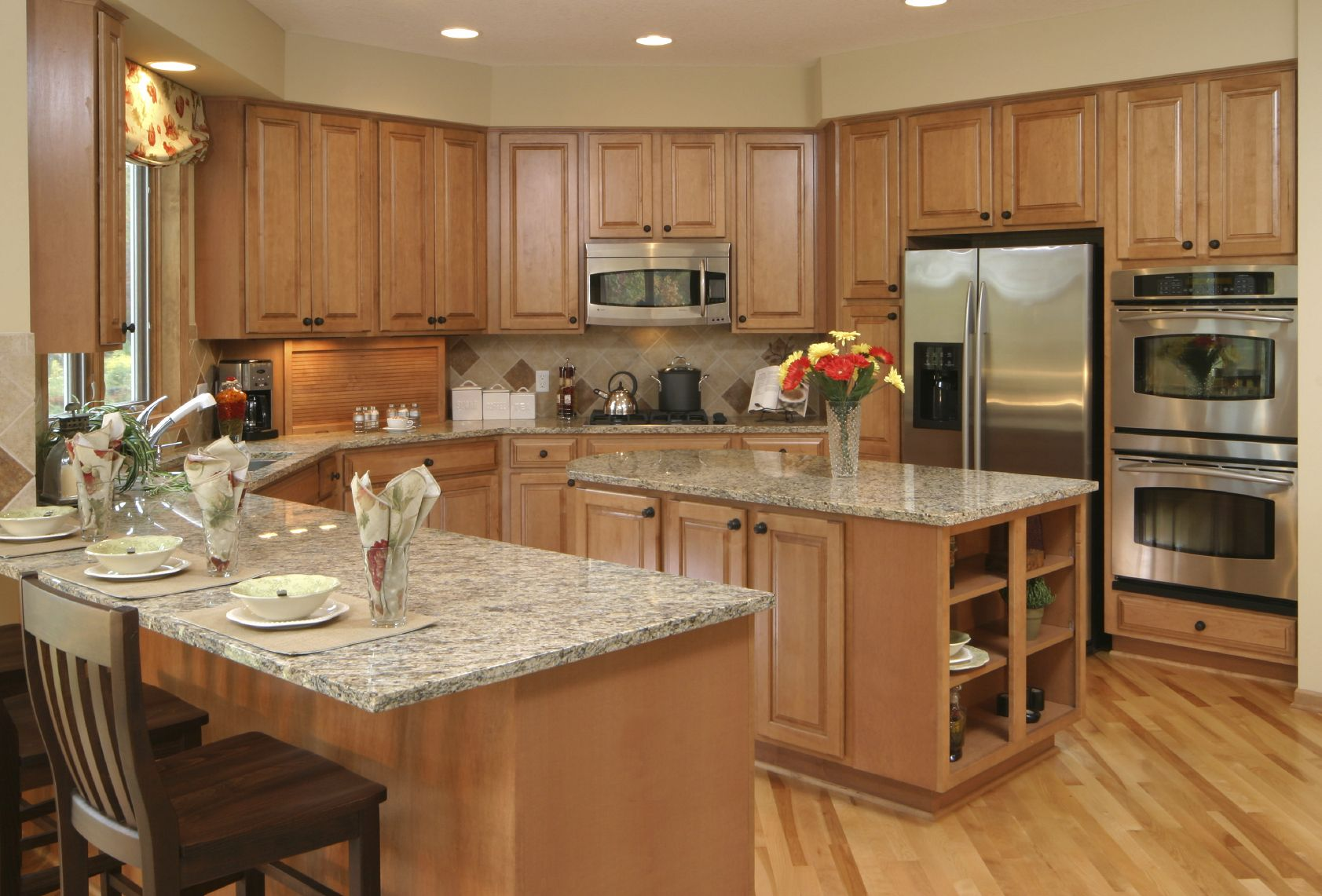 U Shaped Kitchen Layout With Island 41 Luxury Ushaped Kitchen Designs & Layouts Photos  Marble