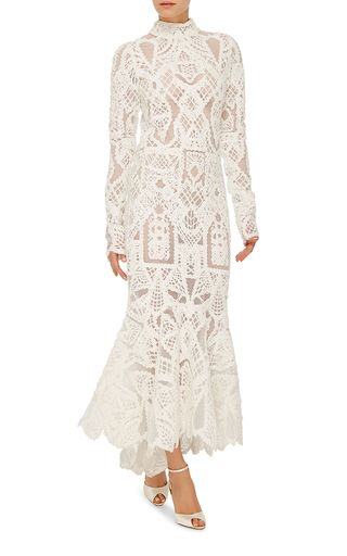M'O Bridal & Wedding: Longsleeve Tower Lace Gown by Jonathan Simkhai from our curated Wedding Reception trunkshow