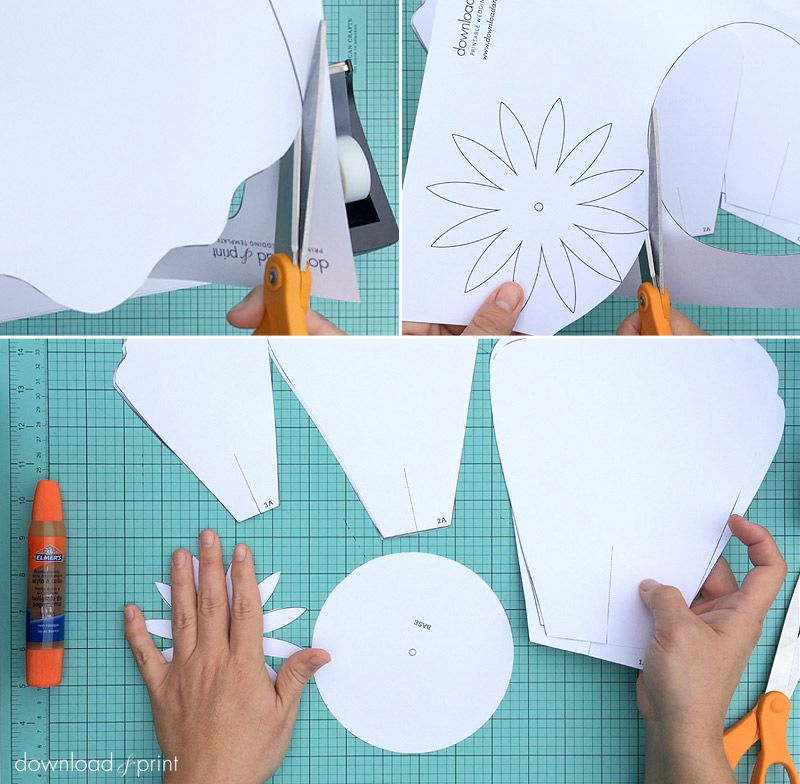 free petal template to make giant paper roses download print more