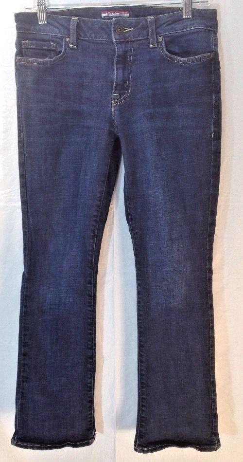 Womens Tommy Hilfiger Jeans 6 short (30x28) Boot Cut-Mid Rise-Denim Dark wash  #TommyHilfiger #BootCut