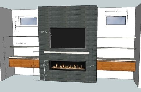What Is The Recommended Height From The Floor To Mount A Gas Fireplace Linear Fireplace Gas Fireplace Tv Above Fireplace