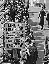 Breadline in New York during the Great Depression | American ...
