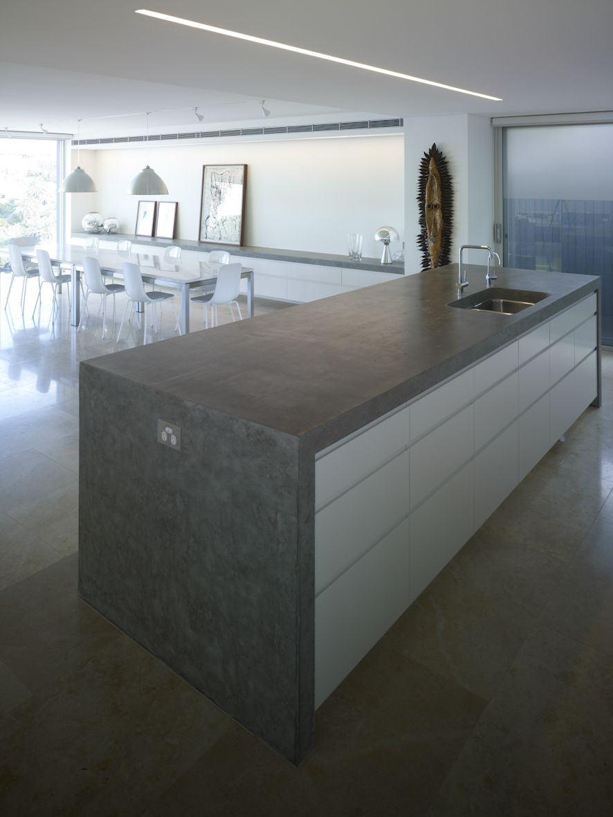 Concrete benchtop by RAAA