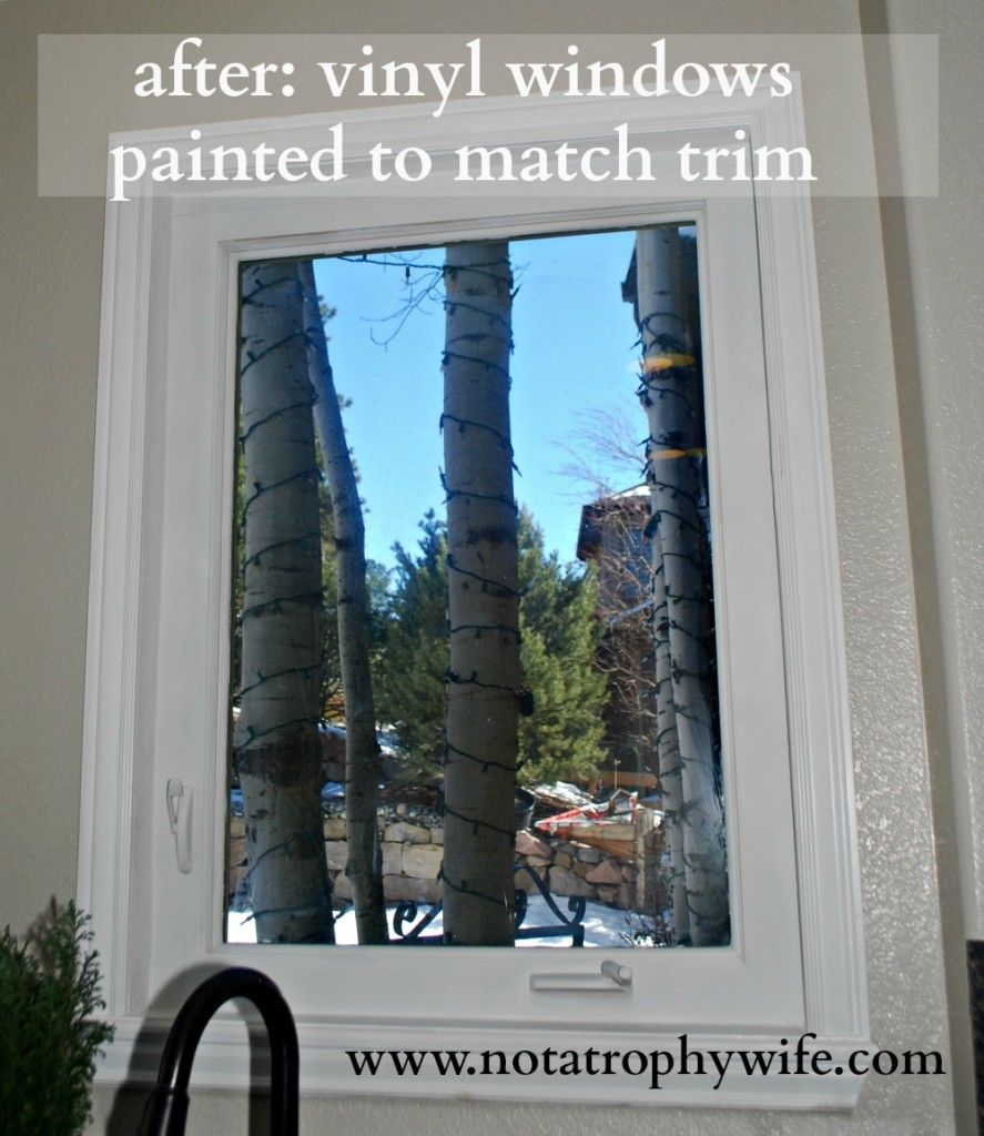After Go Ahead And Paint Your Vinyl Windows Window Vinyl Painting Vinyl Windows Black Window Frames