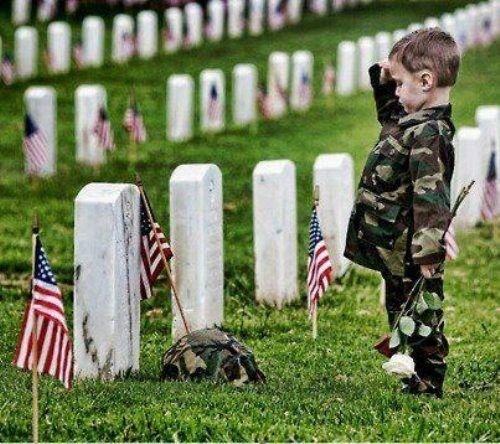 salute little soldier
