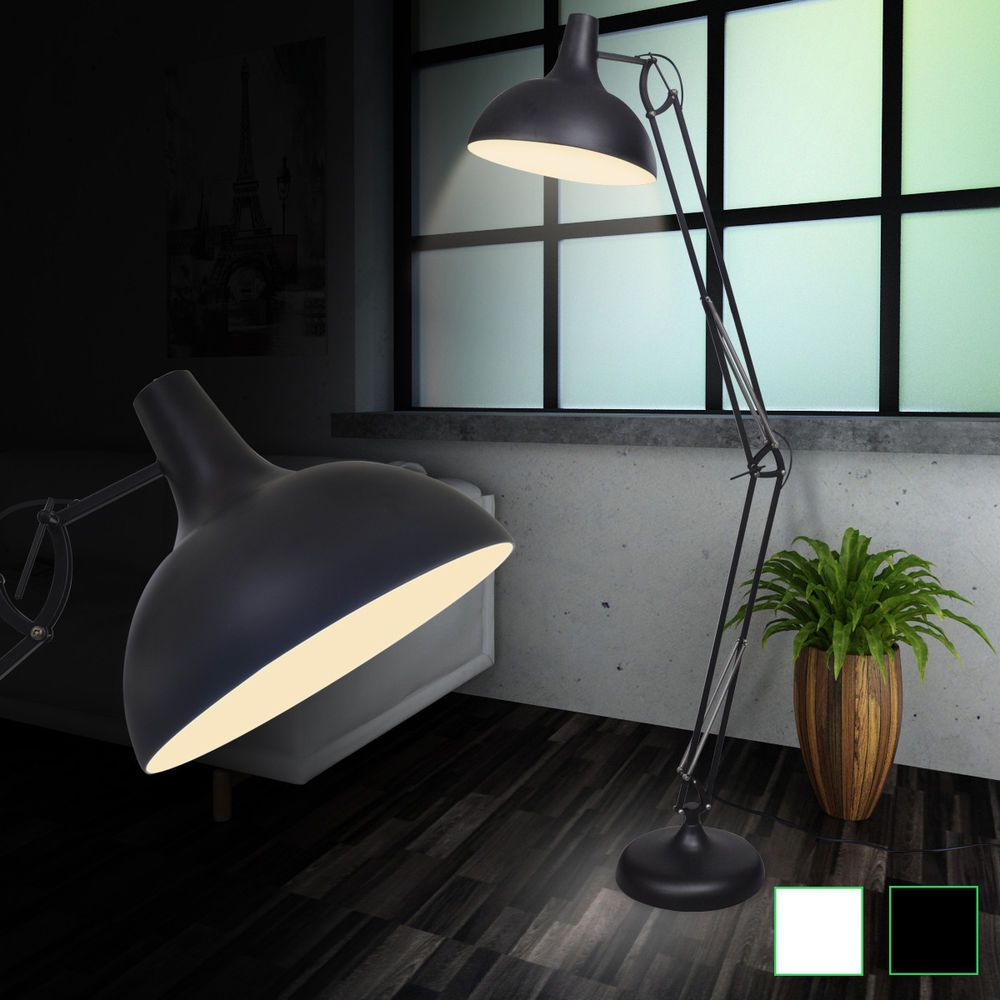 Design LED Steh Leuchte Standlampe Büro Leselampe Wohnzimmer Beleuchtung  Lampe   EBay