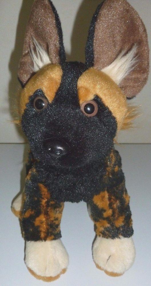 Wild Republic African Wild Dog Hunting Painted Plush Animal Hyena