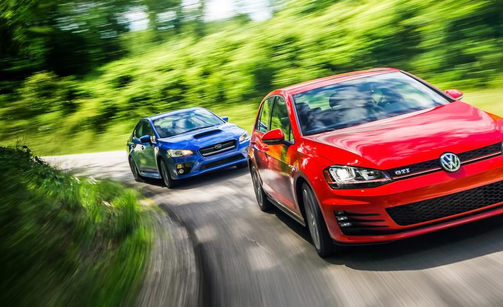 Auto Cars Show Review Subaru WRX vs. VW GTI 2015 2015