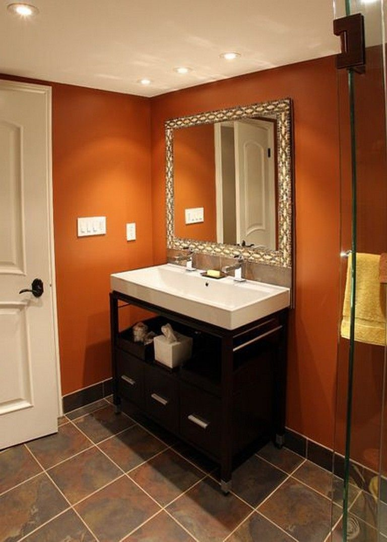 20 Amazing Orange Bathroom Designs Bathroomideas