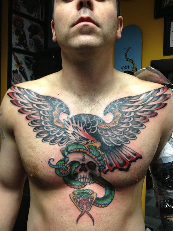 Eagle chest piece by Chad Koeplinger at Congress St. Tattoo in ...