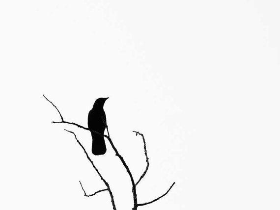 Printable Crow Silhouettes | Crow Raven Silhouette Minimal ...