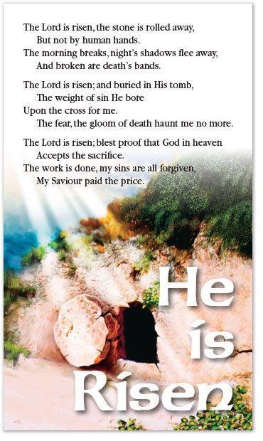 He Is Risen Poem