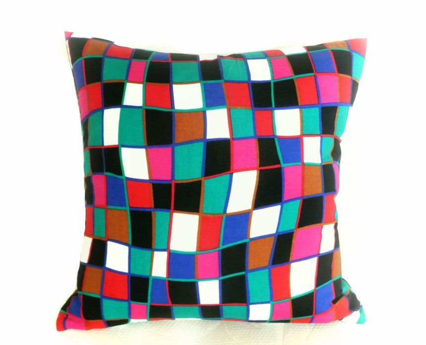 Funky Geometric Throw Pillows Colorful Decorative Pillow Bold Fascinating Funky Decorative Pillows