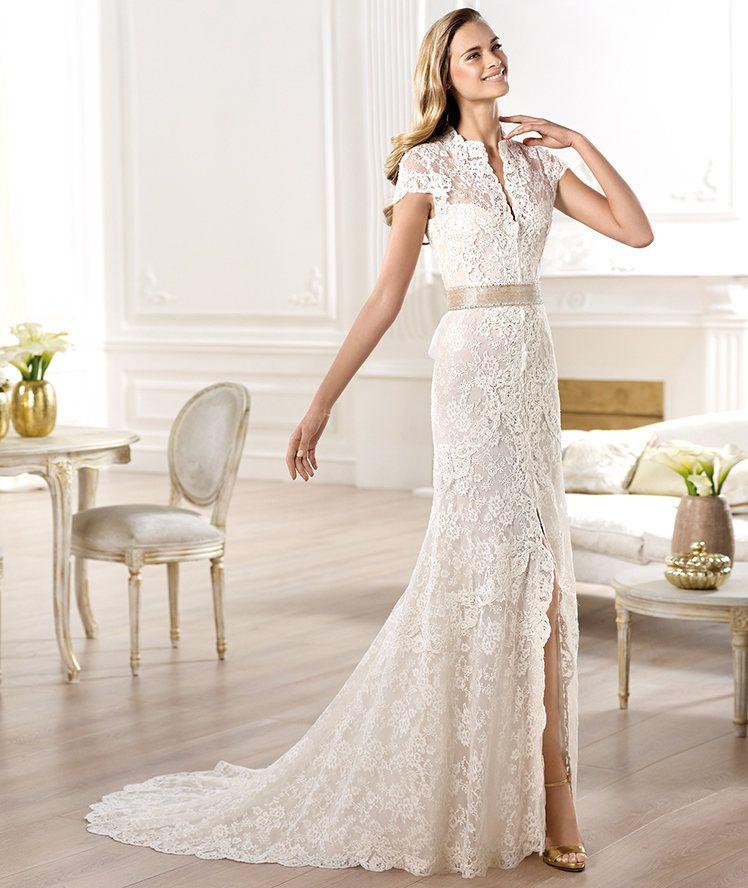 f1e0c6595 Vestidos de novia 2014 de Pronovias modelo camisero - Modelo YANGUAS