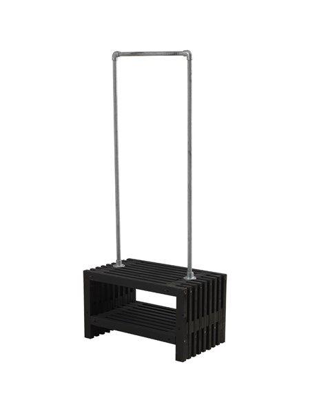Tralle Garderobe Sort B 80 Cm Rustikt Garderobe Design