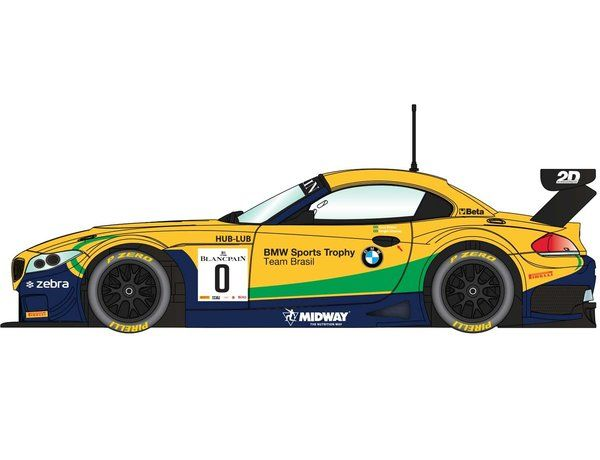 The Scalextric BMW Z4 GT3 Brands Hatch 2015 is a slot car from the Scalextric Road and Rally car range.