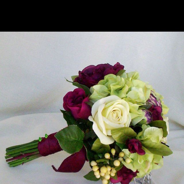 Eggplant Wedding Flowers: Eggplant And Light Lime Green...that's The Plan When I Get