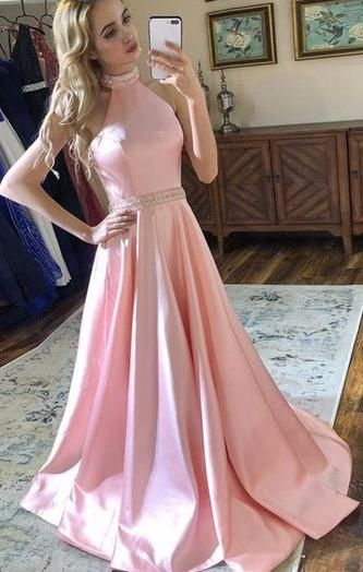 Open Back Long Prom Dress 8th Graduation Dress Custom-made School Dance Dress YDP0714 #schooldancedresses