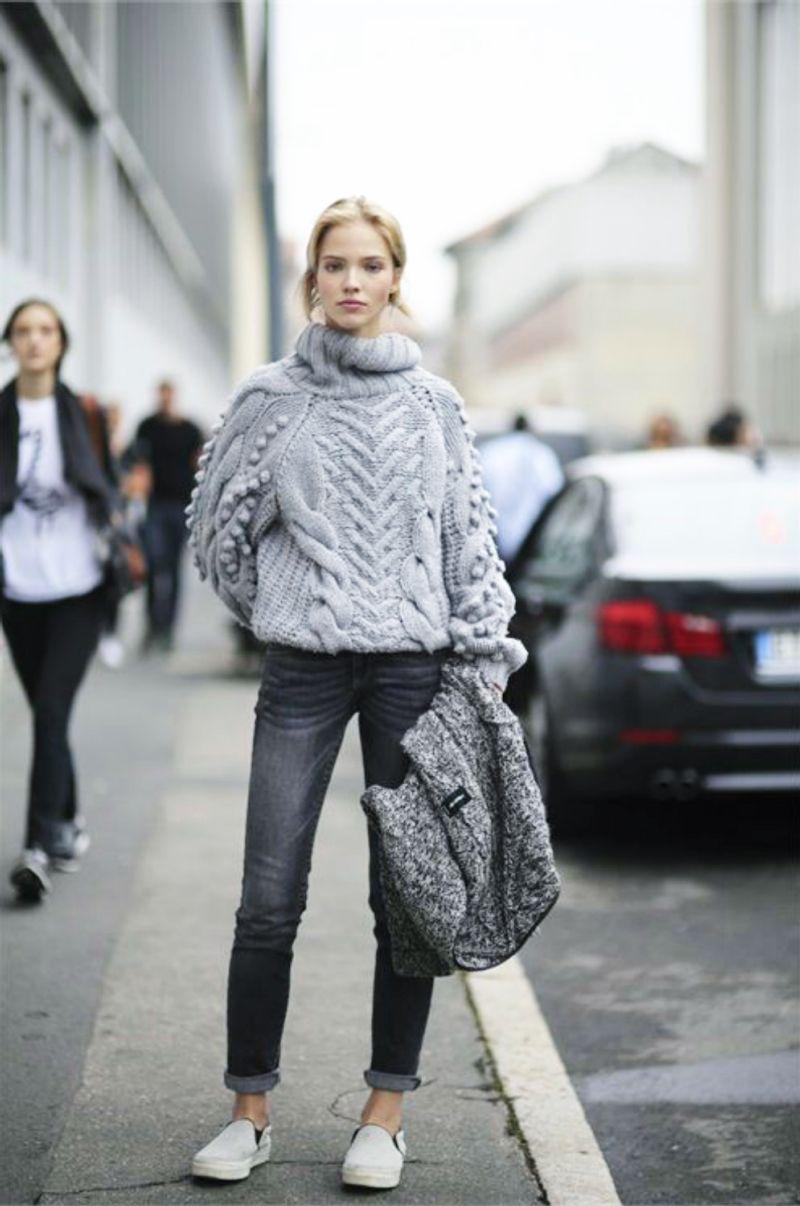 7280ce76e3ef65 Style Inspiration: Chunky Winter Knits | Knitwear Style | Fashion ...
