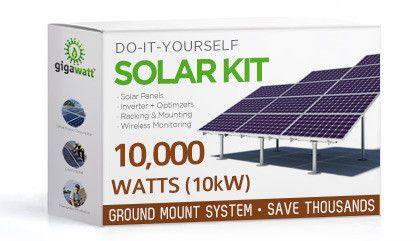 10kw 10000w Solar Panel Ground Mount Installation Kit Solar Kit Solar Heating Solar Installation
