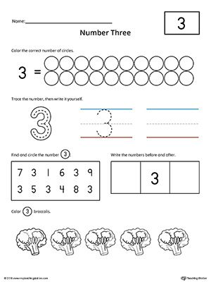Number 3 Practice Worksheet Preschool Worksheets Numbers Preschool Practices Worksheets