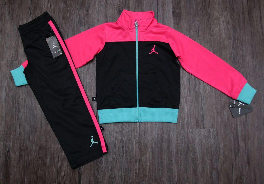 4c1766f5ddc374 Details about Air Jordan Girl Jogging Set ~ Tracksuit ~ Black