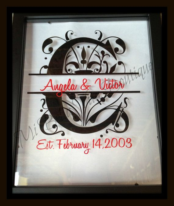 Custom Monogram Split Letter Floating Frame 8x10 Personalized Makes
