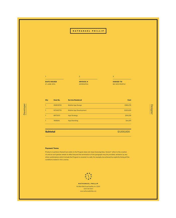 bethany-heck Invoice / receipt Pinterest Brand identity