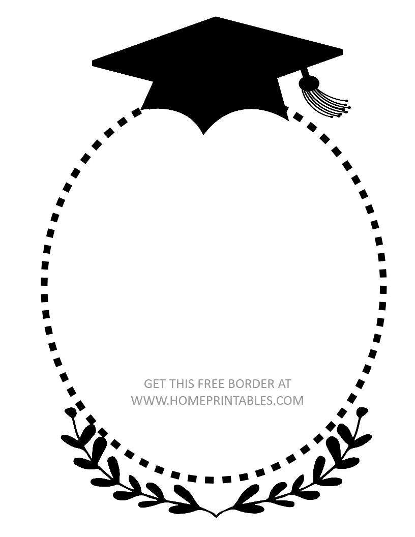 15 Free Graduation Borders {With 5 NEW Designs | Happy