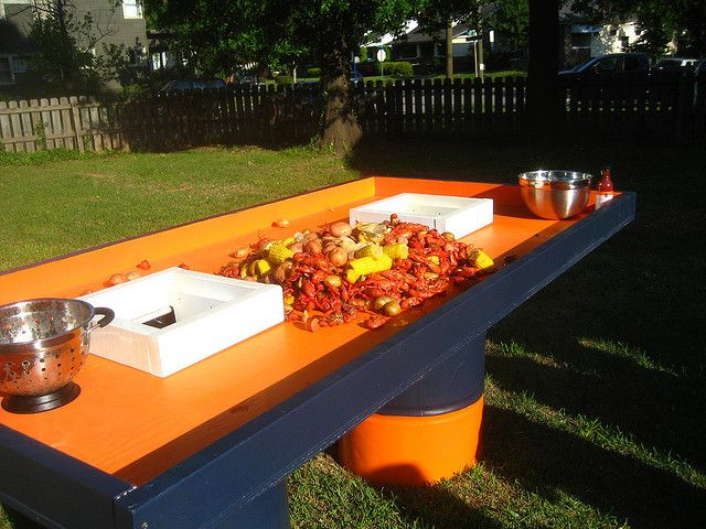 Fantastic Crawfish Boil Ingenious Crawfish Table 4 Crawfish Tables Download Free Architecture Designs Scobabritishbridgeorg