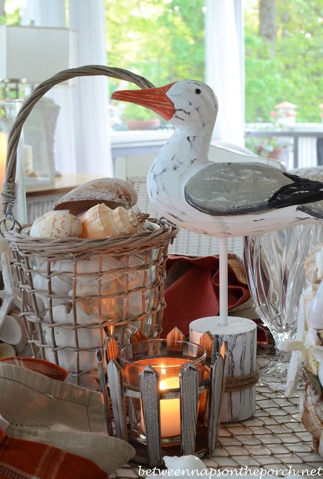 Dining With The Seagulls | Nautical table, Tablescapes and Dining