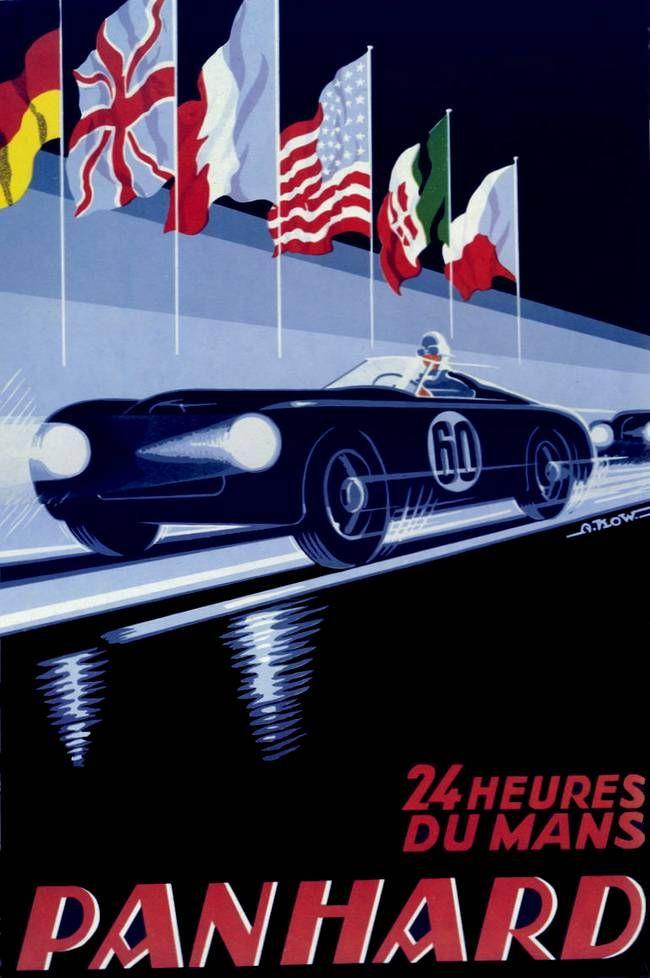 24 heures du mans panhard speed posters pinterest le mans cars and car posters. Black Bedroom Furniture Sets. Home Design Ideas