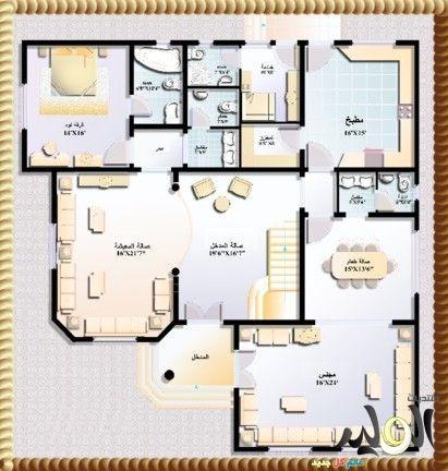 اروع تصاميم صور فلل دورين جميلة بالصور 2017 تصاميم معمارية الوليد Architectural House Plans Family House Plans House Map