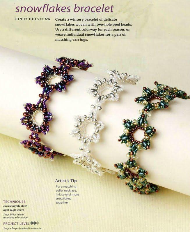 'Snowflake' perle armbånd..