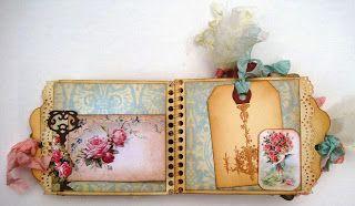 Something Tattered: Shabby Chic mini Library Pocket album ~ Design team project ~ Misty Christensen