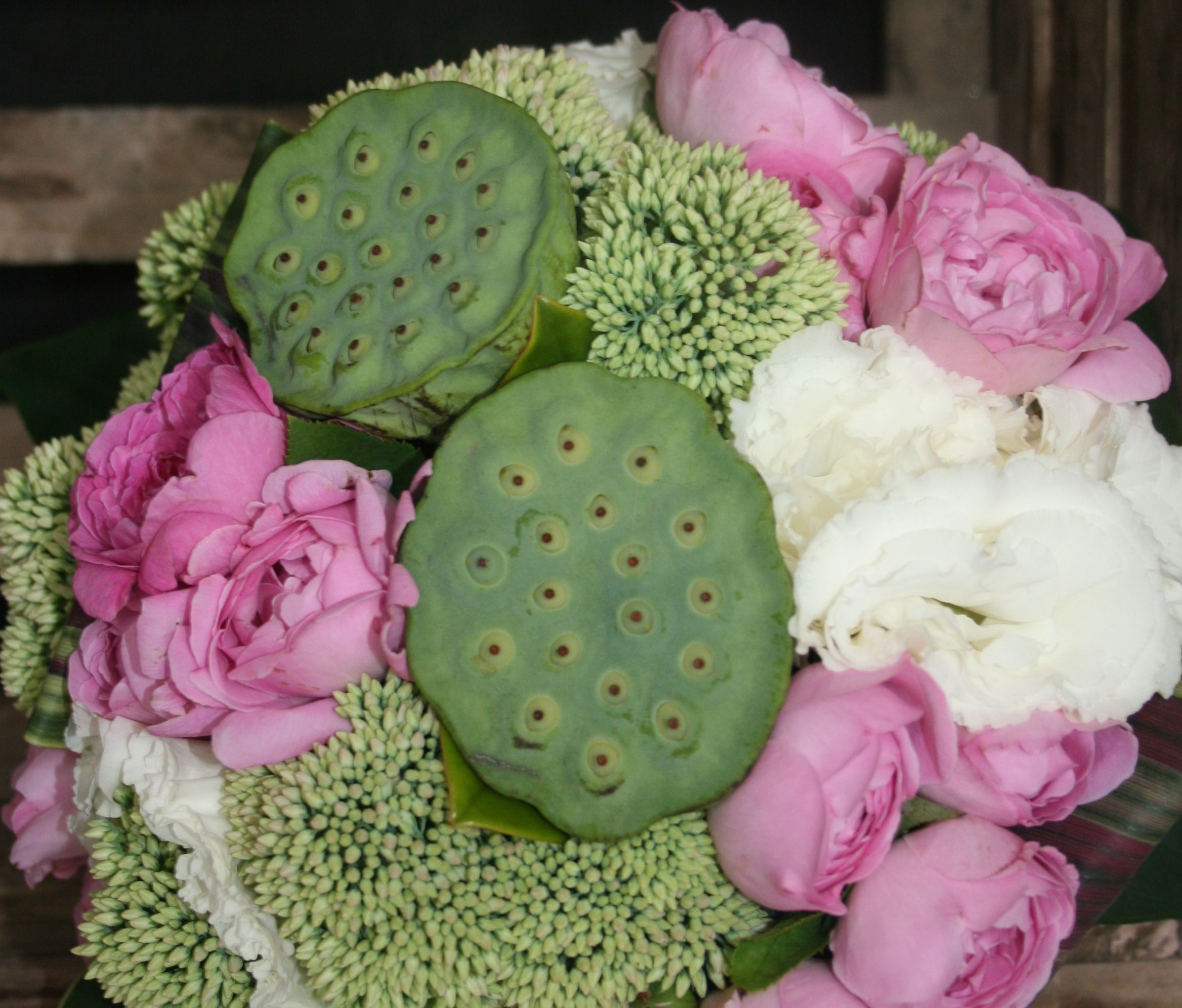 Lotus pod bouquet flowers in the garden pinterest bouquet lotus pod bouquet flowers dhlflorist Image collections