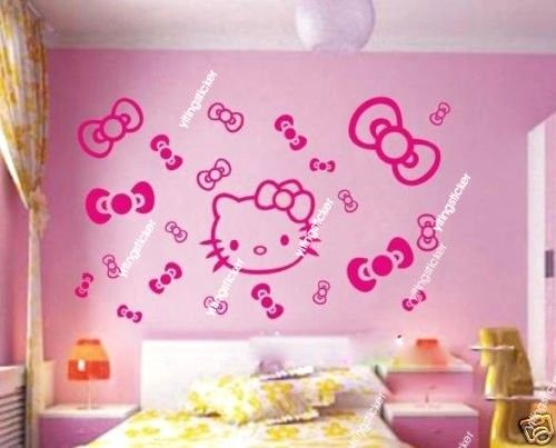 Hello Kitty Wall Decal Modern Wall Sticker Baby By Yitingsticker, $15.00 Part 75