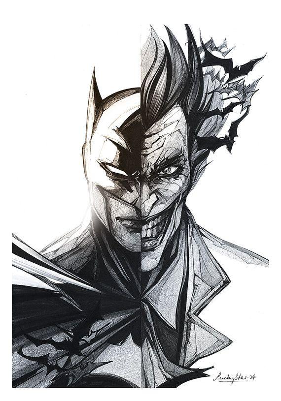 Daredevil / Print | Batman | Pinterest | Joker Sketch Joker And Batman