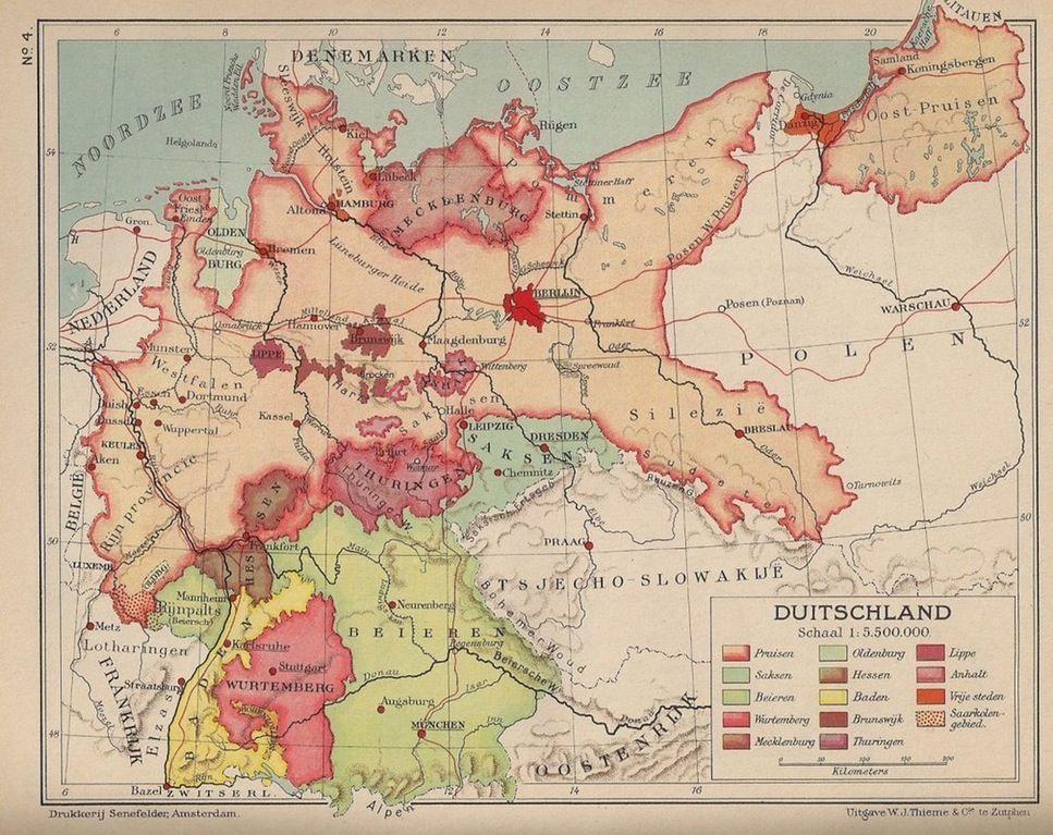 A Dutch map of Germany (1936) | Maps & Globes | Pinterest ...