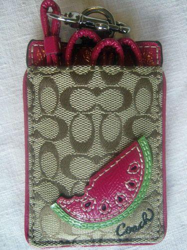 ba8897efbf14 $24 COACH WATERMELON LANYARD ID BADGE HOLDER F61780 NWT | Handbags ...