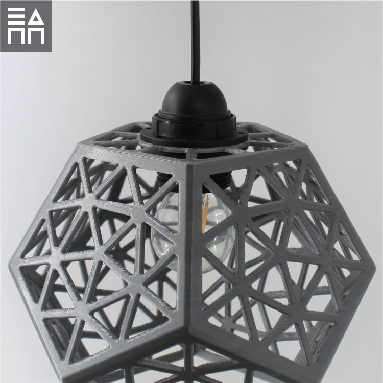 The Platonic Forest 3d Printed Lamp Shade In 2020 3d Druck Drucken