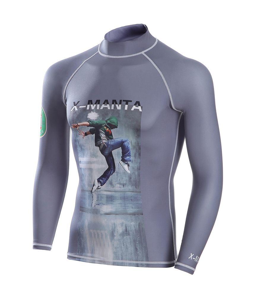 Men/'s Long Sleeve Swimsuit Rash Guard UV Protection Surfing Bathing Tops UPF 50+