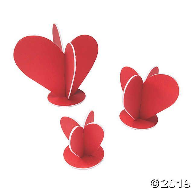 3d Heart Centerpieces Oriental Trading Valentine S Day Paper Crafts Valentines Day Decorations Diy Valentines Crafts