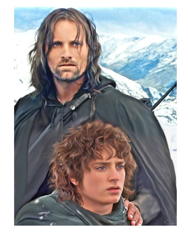 Image result for aragorn and frodo