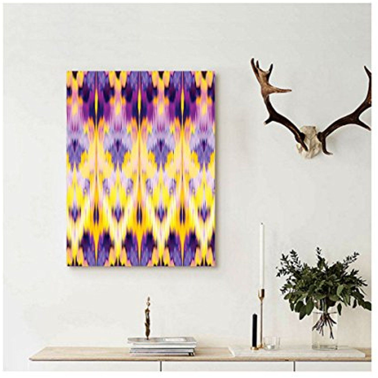 Liguo88 Custom canvas Ikat Decor Ikat Pattern Dyeing Effect ...