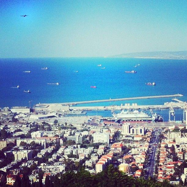.@Anna Totten  Stylianou's Instagram photos  HAIFA #view #sea #horizon #sky #blue