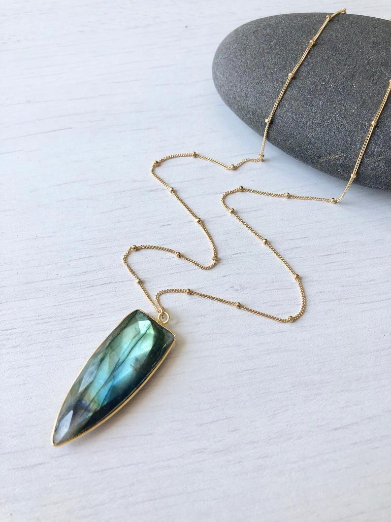 Labradorite infinity ring design choker necklace 14K gold filled  Labradorite