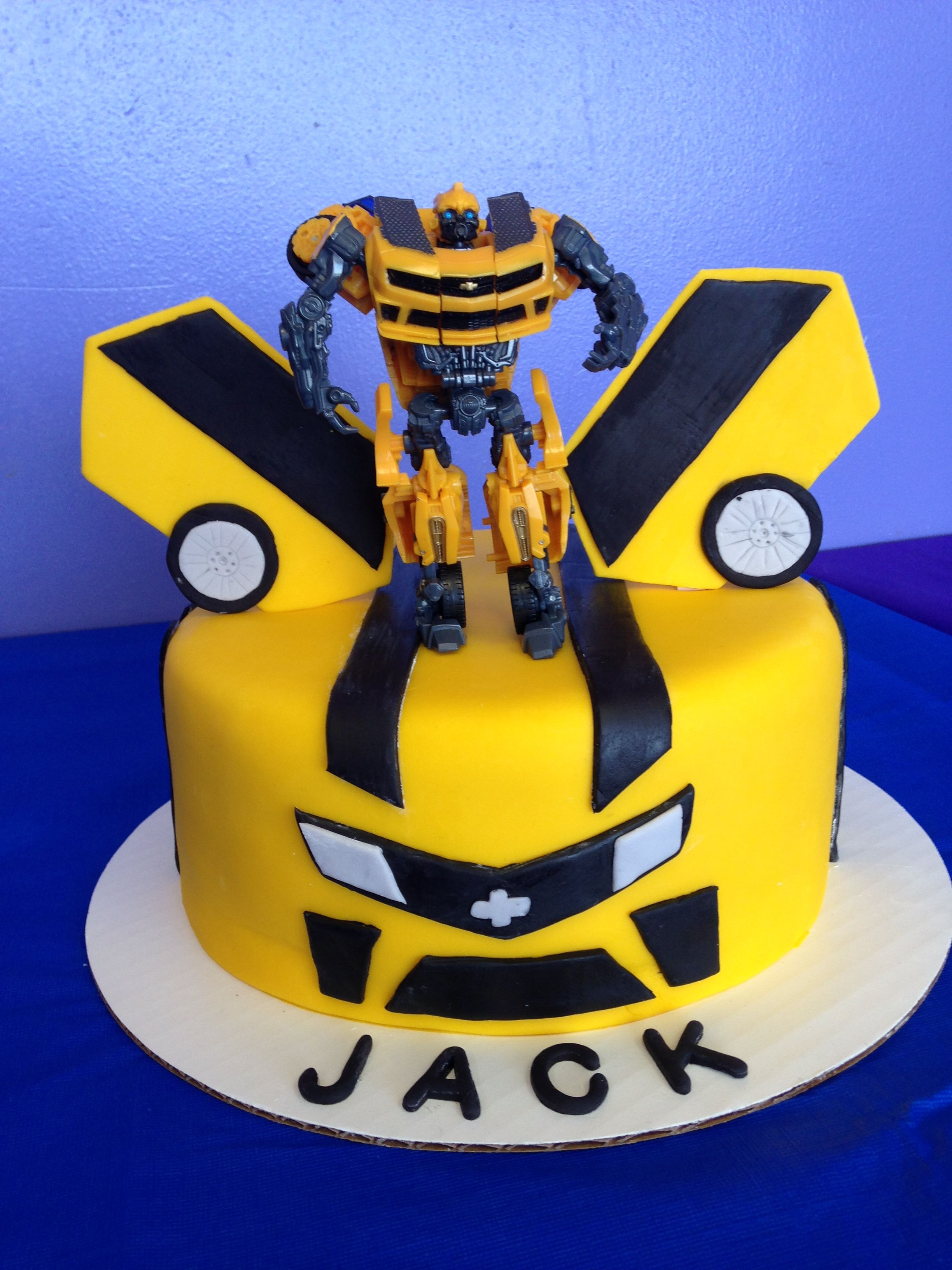 Fantastic Transformers Bumblebee Cake Fondant Was So Much Easier To Work Personalised Birthday Cards Paralily Jamesorg